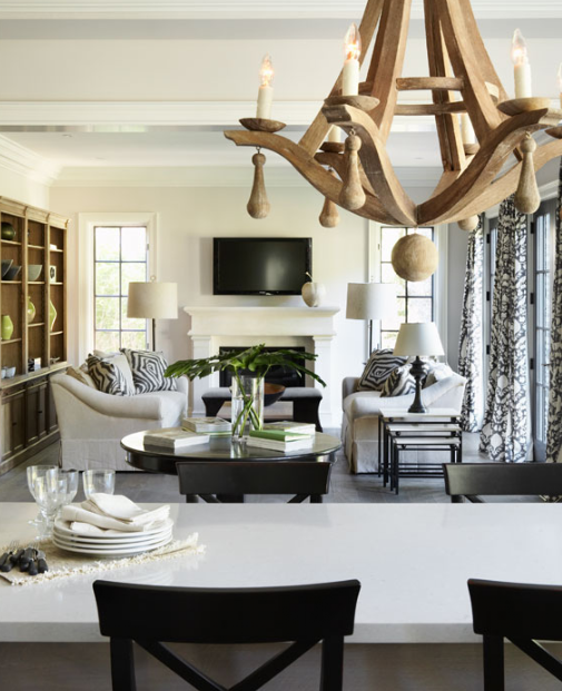 Arteriors Manning Chandelier Transitional Living Room