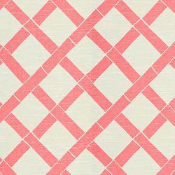 Fabrics - KEY WEST WHITE/PINK - Pink - Shop By Color - Fabric - Calico Corners - pink, lattice, fabric, drapes
