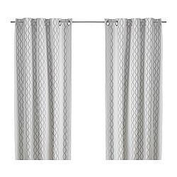 Window Treatments - IKEA | Curtains & blinds | Curtains | HENNY RAND | Pair of curtains - white, black, curtain