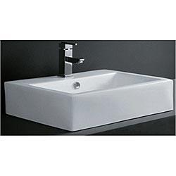 Bath - Rectangular Porcelain Bath Vessel Sink | Overstock.com - sink, bathroom, vessel