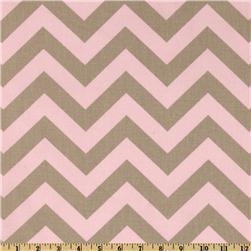 Fabrics - Premier Prints ZigZag Bella/Cozy - Discount Designer Fabric - Fabric.com - zigzag, chevron, pink, gray, fabric
