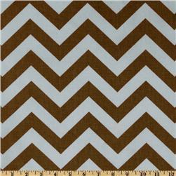 Fabrics - Premier Prints ZigZag Village - Discount Designer Fabric - Fabric.com - zigzag, chevron, blue, brown, fabric