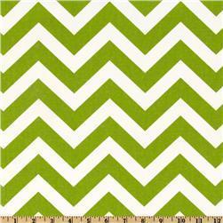 Fabrics - Premier Prints ZigZag Chartreuse/White - Discount Designer Fabric - Fabric.com - zigzag, chevron, green, fabric