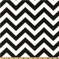 Fabrics - Premier Prints ZigZag Black/White - Discount Designer Fabric - Fabric.com - zigzag, chevron, black, fabric