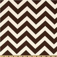 Fabrics - Premier Prints ZigZag Village Brown/Natural - Discount Designer Fabric - Fabric.com - zigzag, chevron, brown, fabric