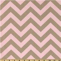 Fabrics - Premier Prints ZigZag Bella/Cozy - Discount Designer Fabric - Fabric.com - zigzag, chevron, pink, gray, fabric