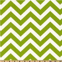 Fabrics - Premier Prints ZigZag Chartreuse/White - Discount Designer Fabric - Fabric.com - zigzag, chevron, green, fabric
