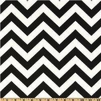 Fabrics - Premier Prints ZigZag Black/White - Discount Designer Fabric - Fabric.com - zigzag, chevron, black, fabric