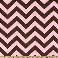 Fabrics - Premier Prints ZigZag Kelso Brown/Maggie Pink - Discount Designer Fabric - Fabric.com - zigzag, chevron, pink, brown, fabric