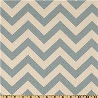 Fabrics - Premier Prints ZigZag Village Blue/Natural - Discount Designer Fabric - Fabric.com - zigzag, chevron, ivory, blue, fabric