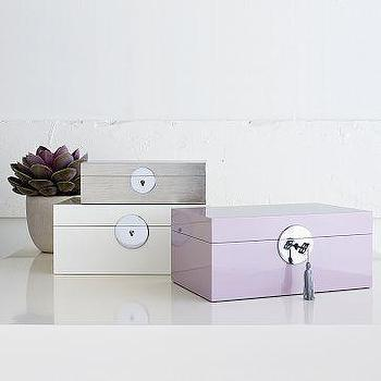 Decor/Accessories - Medallion Jewelry Boxes | west elm - medallion, jewelry, box, boxes