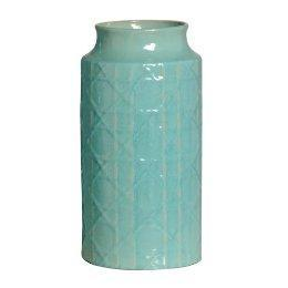 Decor/Accessories - Cane Design Vase Short - Turquoise : Target - blue, cane, vase