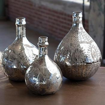 Decor/Accessories - Mothology - The Science of Style - Antique Mercury Demijohn Wine Bottles - antique, mirror, bottles