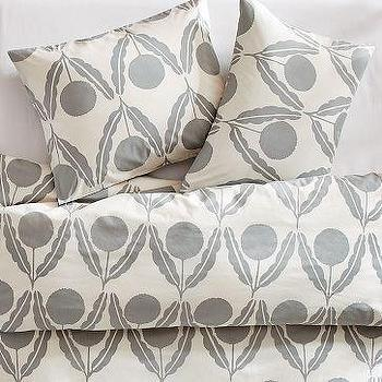 Bedding - Organic Imperial Duvet Cover + Shams | west elm - silver, gray, imperial, duvet, bedding