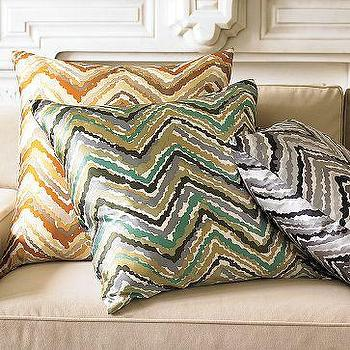 Pillows - Chevron Pillow Cover | west elm - chevron, pillow, pillows