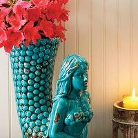 Decor/Accessories - mermaid vase - turquoise, blue, mermaid, vase