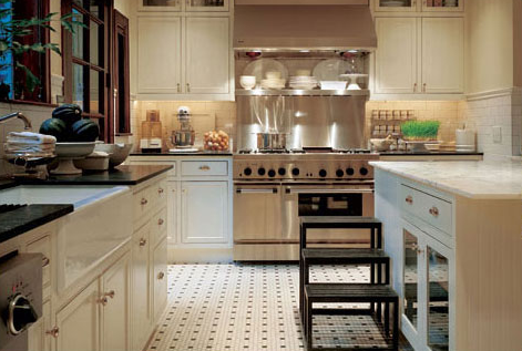 Cream Cabinets - Traditional - kitchen - J. Randall Powers