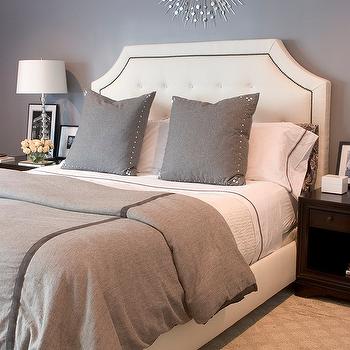 Gray Bedroom, Contemporary, bedroom, Erinn V Design Group