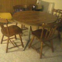 miscellaneous - table, and, chairs,  dining table and chairs in need of help