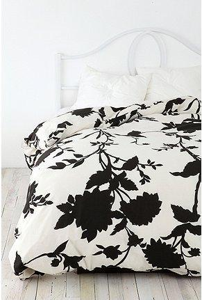Bedding - UrbanOutfitters.com > Silhouette Flower Duvet Cover - silhouette, flower, duvet