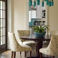 dining rooms - turquoise chandelier, turquoise blue chandelier, turquoise glass chandelier, Sara Chandelier,  Turquoise blue glass chandelier,