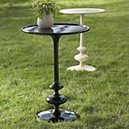 Tables - GiGi Outdoor Table/ Grandin Road - table, aluminum, black, cream