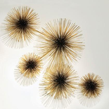 Art/Wall Decor - Jonathan Adler Jere Urchin Sculpture in C. Jere Sculptures - sea urchin, art