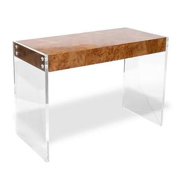 Storage Furniture - Jonathan Adler Bond Desk in In Stock - acrylic, table