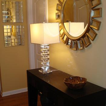 entrances/foyers - Target console table, Marshalls lamp, homegoods mirror, mirrors from homegoods, home goods mirror, mirrors from home goods, Devon Mirror, Target Console Table, Marshalls Lamp, HomeGoods Mirror,