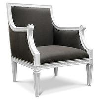 Seating - Jonathan Adler Regent Arm Chair in Chairs, Benches, And Ottomans - gray, chair