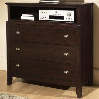 Ventura 3 Drawer Entertainment Chest in Dark Birch Finish