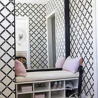 Virginia Macdonald Photography - HGTV's Pure Design - White & Black lattice wallpaper, ...