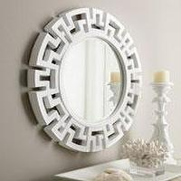 Mirrors - The Horchow Collection-Decor &amp; Antiques - Mirrors - Mirrors - white, fretwork, mirror