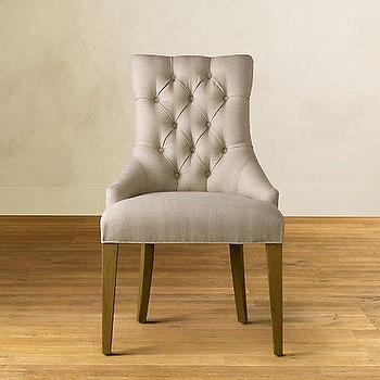Seating - Martine Upholstered Armchair | Restoration Hardware - dining room chair