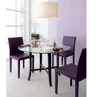 Seating - Crate and Barrel - Folio Plum Leather Side Chair shopping in Crate and Barrel Chairs, Barstools - dining room, purple, chairs
