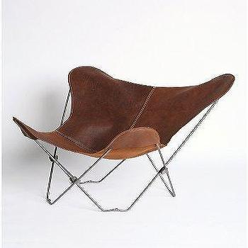 Seating - UrbanOutfitters.com > UO Lux Leather Butterfly Chair - leather, butterfly, chair