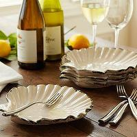 Decor/Accessories - Scallop Salad Plate, Set of 4 | Pottery Barn - scallop, scallops, dinnerware, dish, dishes