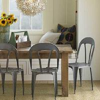 dining rooms - lotus, pendant, rustic, dining table, eco bistro dining chairs, built-in, bench, , Eco Bistro Chair, Lotus Flower Chandelier,