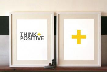 Art/Wall Decor - MadeByGirl - THINK POSITIVE - art, print