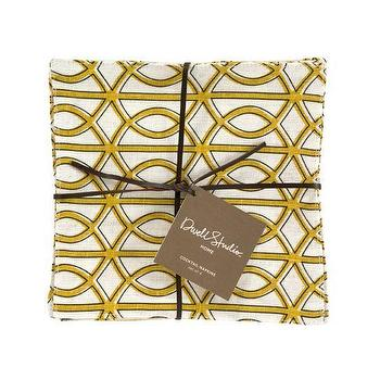 Decor/Accessories - DwellStudio | Gate Sun Cocktail Napkins (set of 4) - Cocktail Napkins - HOME - napkins