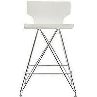 Seating - Rae White Bar Stools (Set of 2) | Overstock.com - Bar Stools