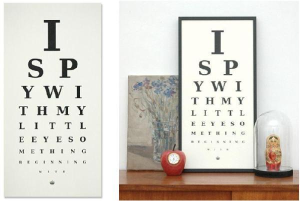 I Spy Eye Chart | Prints | Keep Calm Gallery