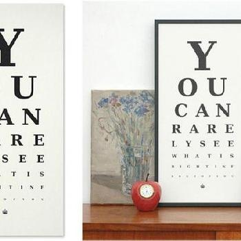 Art/Wall Decor - Rarely Eye Chart | Prints | Keep Calm Gallery - art