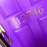 miscellaneous - Glidden - Regal Purple - purple, front door, exterior, house numbers,  Painted front door & added house numbers