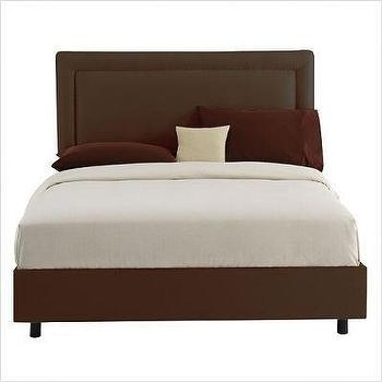 Skyline Furniture Border Bed in Chocolate