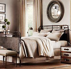 French Acad�?mie Iron Bed, Restoration Hardware