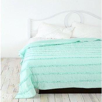 Bedding - UrbanOutfitters.com > Tuxedo Ruffle Quilt - ruffle, quilt