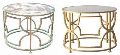 Tess Side Cocktail Table Furniture Worlds Away Nickel Gold Leaf Modern Home Decor Mirrored Top