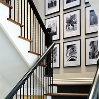 Donna Griffith Photography - entrances/foyers - black, white, photo walls, photo wall collage, photo wall ideas,  Great black & white photo gallery!