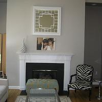 living rooms - Sherwin Williams Modern Grey, fireplace,  fireplace